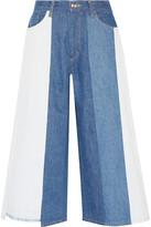 Facetasm Patchwork Mid-rise Wide-leg Jeans - Blue