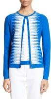 St. John Women's Stripe Intarsia Knit Cardigan