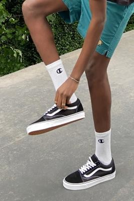 Champion Logo White Socks 3-Pack - white at Urban Outfitters