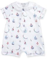 Kissy Kissy Seven Seas Pima Sailor Shortall, Blue/White, Size 3-24 Months