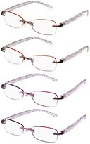 Foster Grant Women's Four Pack Readers ARD18.COM Oval Reading Glasses, 1.5