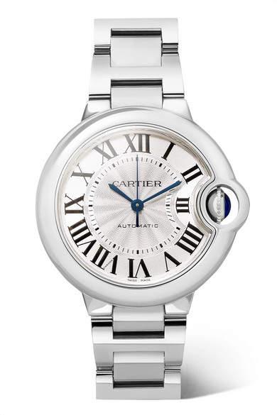 Cartier Ballon Bleu De 33mm Stainless Steel Watch - Silver