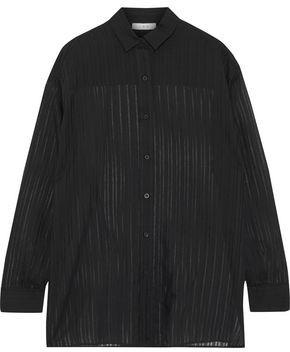 IRO Sory Striped Burnout Cotton And Silk-blend Shirt