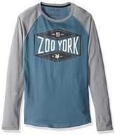 Zoo York Men's Platter Long Sleeve Raglan