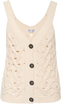 Brunello Cucinelli Cable-Knit Cotton-Blend Top