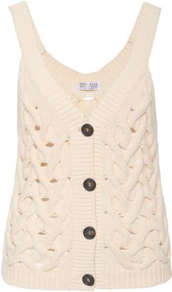Brunello Cucinelli Cable-Knit Cotton-Blend Top