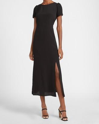 Express Crew Neck Short Sleeve Maxi Dress