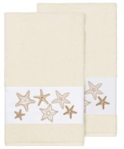 Linum Home Lydia 2-Pc. Embellished Bath Towel Set Bedding