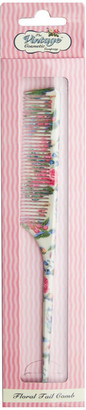 The Vintage Cosmetic Company Floral Tail Comb
