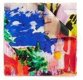 Paul Smith 'Paul's Photos' print silk pocket square