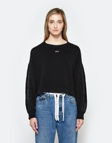 Off-White Black Coulisse Crewneck in Black/White