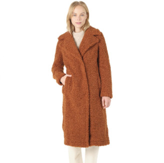 Spoom - Danube Rust Long Teddy Coat - rust | polyester | 40 - Rust