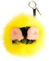 Fendi Bag Bugs bag charm - women - Calf Leather/Fox Fur/Mink Fur/Rabbit Fur - One Size
