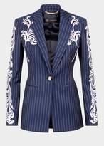 Versace Pinstripe Baroque Blazer Jacket