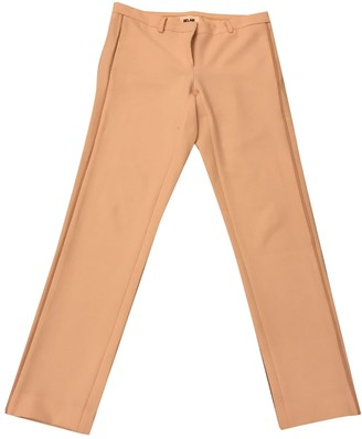 Bel Air Pink Polyester Trousers