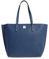 MCM 'Medium Sophie' Leather Shopper - Blue