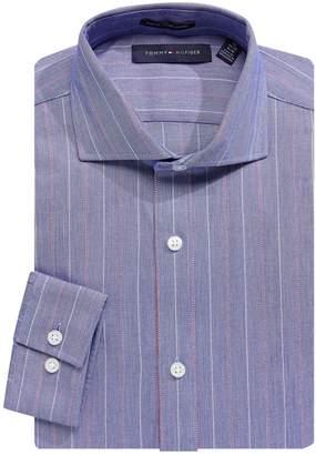 Tommy Hilfiger Slim-Fit Stripe Dress Shirt