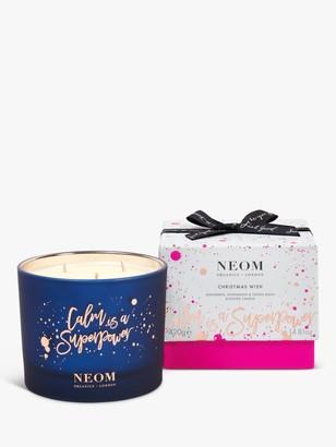 Neom Organics London Christmas Wish 3 Wick Scented Candle, 420g