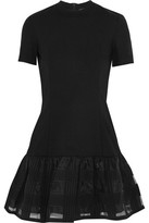 Markus Lupfer Embroidered Organza Crepe Mini Dress