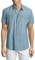True Religion Ryan Western-Style Lightweight Denim Shirt, Blue