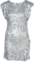 Silver Sequin Shift Dress by Rare**