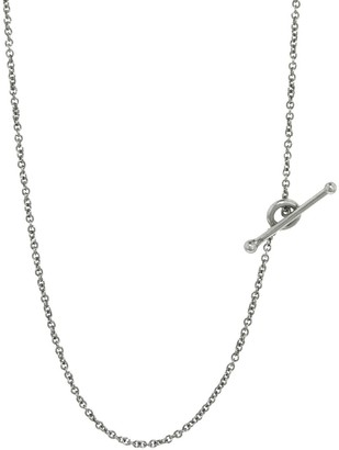 Cathy Waterman 18 Inch Fine Chain Platinum Necklace