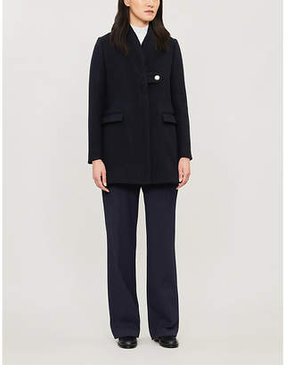 Claudie Pierlot Buttoned wool and cashmere-blend coat