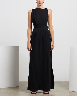 MATIN Contrast Strap Long Dress