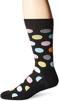 Happy Socks Men's Combed Cotton 1/2 Terry Crew - Multi Big Dot (Pack of 1)