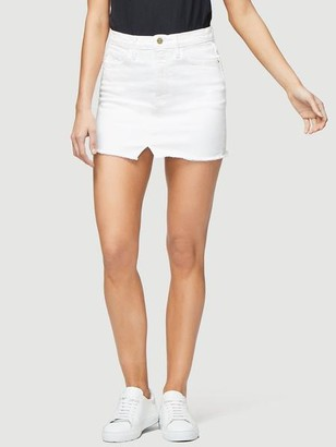 Frame Le Mini Skirt Split Front