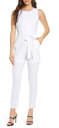 Fraiche by J Sleeveless Stretch Crepe Jumpsuit