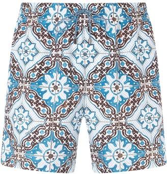 Dolce & Gabbana Majolica print swim shorts