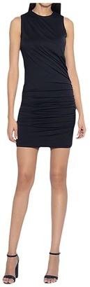 Susana Monaco Sleeveless Crew Neck Drape Dress (Black) Women's Dress