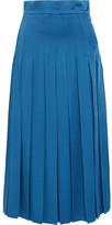Fendi Pleated Cady Midi Skirt - Azure