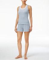 Lauren Ralph Lauren Pointelle Ribbed Knit Tank Top & Boxer Shorts Pajama Set
