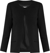 Raey Collarless wool-blend jacket