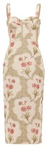 Brock Collection Pelagia Floral-print Corseted Midi Dress - Womens - Beige Multi