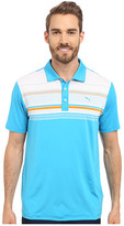 Puma Short Sleeve Key Stripe Polo