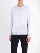 John Smedley Redfree striped jumper