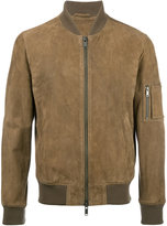 Desa 1972 - zip up bomber jacket - men - Cotton/Suede - 46