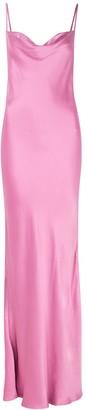 Bec & Bridge Lucie pink satin maxi dress