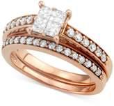 Macy's Diamond Quad Bridal Set (2 ct. t.w.) in 14k Rose Gold