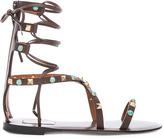 Valentino Rockstud Leather Rolling Sandals