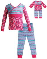 Dollie & Me Girls 4-14 Flower Pajama Set