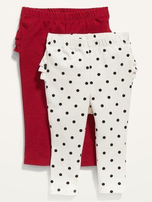 Old Navy Ruffle-Back Jersey Leggings 2-Pack for Baby