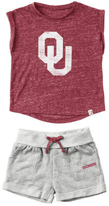 Colosseum Baby Oklahoma Sooners Cuffed T-Shirt and Short Set