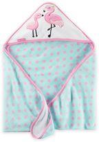 Carter's Flamingo Hooded Towel in Pink