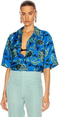 Givenchy Hawaii Shirt in Electric Blue & Mint Green | FWRD