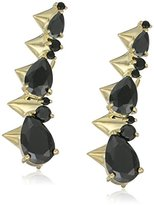 Noir Arctic Ice Gold and Black Ear Cuff