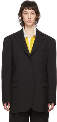 Acne Studios Black Summer Wool Blazer